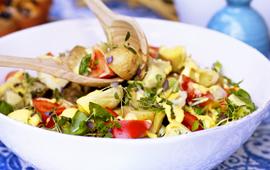 Frans potatissallad med kronärtskockor. Bilden kommer från www.arla.se.